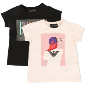 Emporio Armani Kids ロゴ Tシャツ - ピンク