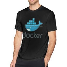 メンズ OネックDockerアウトドアスポーツTシャツL半袖シャツ