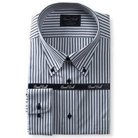 DANIEL DODD 形態安定 長袖ワイシャツ ボタンダウン 抗菌防臭 eadn84-83 大きいサイズ メンズ【83.黒柄-3L】