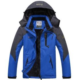 (アンコ&ボーロア)UNCO&BOROR メンズ フード付き スキーウェア 防寒防風対策ハードシェル 裏ボア アウトドア ジャケット 登山 ウエア