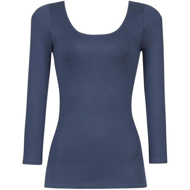 ワコール スゴ衣 天綿 8分袖 Uネックシャツ レディース CLD382