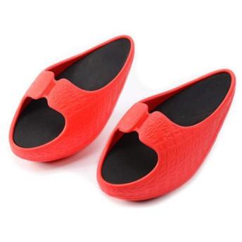 [Camellias] 厚底サンダル レディース ウェッジソール ウエッジ 歩きやすい サボ サンダル 軽い オフィス スリッパ クロッグ ミュール体重を減らす (M, 赤)