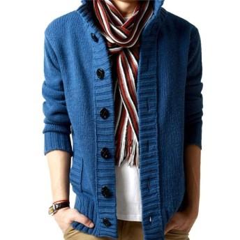 AMBLY カーディガン メンズ ニット カーデ ゆったり着れる 大きいサイズ セーター ガウン ポケット ロング お兄系 プレゼント