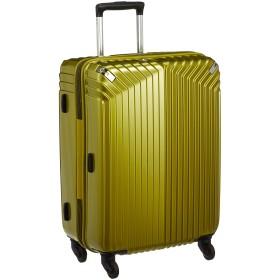 [ヒデオワカマツ] スーツケース ジッパー インライト 無料預入 85-76470 保証付 54L 3.2kg ライム