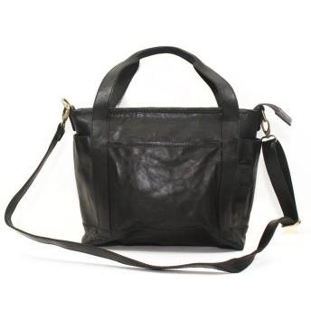本革 トートバッグ TOTE BAG ショルダーバッグ SHOULDER BAG ビジネスバッグ トートバッグ 牛革 1712006 (Black ブラック)