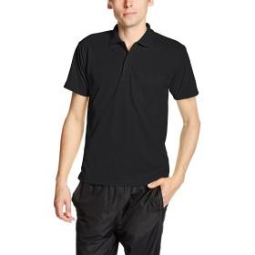 [グリマー] 半袖 4.4オンス ドライ ポロシャツ [ポケット付] 00330-AVP ブラック LL (日本サイズLL相当)