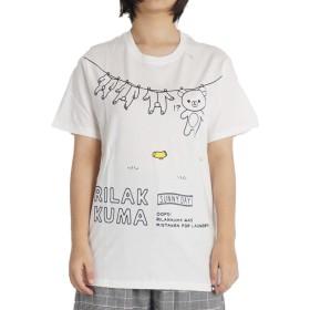 リラックマ tシャツ 半袖 メンズ レディース ユニセックス jrx8302 L ホワイト06