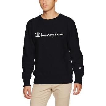 [チャンピオン] リバースウィーブ クルーネックスウェットシャツ C3-L007 メンズ ブラック 日本 S (日本サイズS相当)