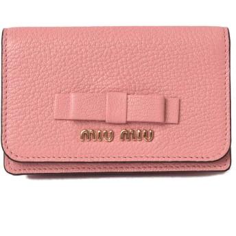 ミュウミュウ カードケース/コインケース miumiu 5MC011 MADRAS FIOCCO/マドラス ROSA N/ローズ 【並行輸入品】