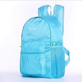 携帯用 リュック スポーツ 子供 バックパック 超軽量 折り畳み可能 旅行リュック 撥水 ナイロン アウトドア/キャンプ/ハイキング用 飛行機柄 22L (ブルー)