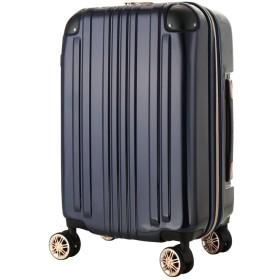 レジェンドウォーカー スーツケース ポリカーボネート 機内持込 ファスナー フレームタイプ ダブルキャスター ネイビー SS(ファスナー)