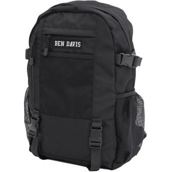 [ベンデイビス] BEN DAVIS リュック ボックス ロゴ メッシュ デイパック ホワイトレーベル ワンサイズ ブラック/ブラック