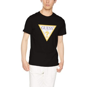 [ゲス] Tシャツ MEN'S KNIT SHIRT メンズ BLK 日本 L (日本サイズL相当)