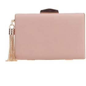 (ファウジーヤ)Fawziya PUレザー タッセル結婚式 バッグ レディース 人気 パーティーバッグ-ピンク