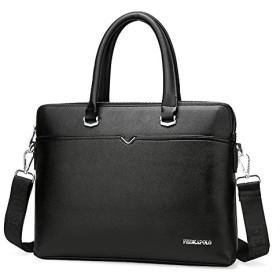 ビジネスバッグ メンズ 革 ブリーフケース 仕事 2way 耐水 大容量 通勤 紳士用 A4 / 14 型PC (ビジネスバッグ)