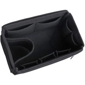 HyFanStr フェルトバッグインバッグ たて型 超多のポケット インナーバッグリュック 大容量 収納 a5 b5 バッグインバッグ 縦 ブラック M