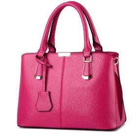 FiveloveTwo女性レディース ハンドバッグトートバッグ PUレザーかばんビジネス 通勤 通学フォーマル大容量出張 2way バッグ全10色 ローズ