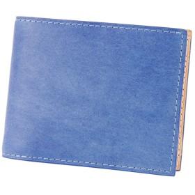 [バギーポート] BAGGY PORT 藍染めレザー 二つ折り財布 BP-ZYS-098-BL ブルー