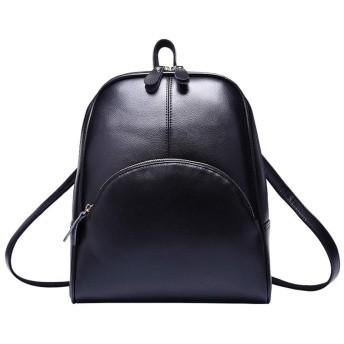 [HR株式会社] リュック レディース リュックサック イギリス風 ファスナー 通学 通勤 pu防水 キャンパス風 可愛い シンプル ブラック 黒