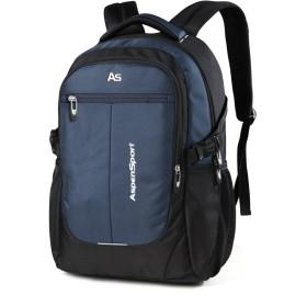 ASPENSPORT パソコンバックパック Laptop Backpack ビジネス リュック 高校生 登山 出張 旅行かばん 通学通勤 スポーツ ギフト (15.6インチPC対応(26L), ブラック/ネイビー)