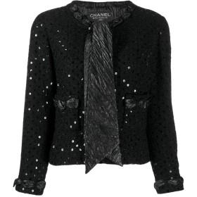 Chanel Pre-Owned 2000's スパンコール ジャケット - ブラック