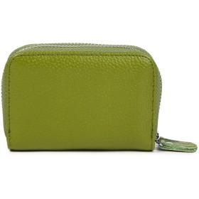 本革 コインケース カード収納 小型財布 ラウンドファスナー 小銭入れ 財布 レディース さいふ サイフ (グリーン)