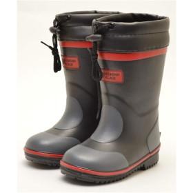 【防寒長靴】MOUNTAIN VILLAGE キッズ 防寒 長靴 スパイク付き RB268SP ブラック 15.0cm