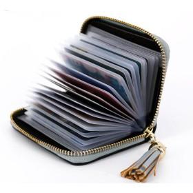 ONG レディース カードケース 薄型 大容量 レザー 磁気防止 カードホルダー コンパクト 手のひらサイズ 全6色 【20枚収納】