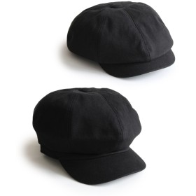 (F[56cm~58cm] Black) [アナグラム] ANAGRAM 2way スウェットキャスケット ハンチング ニュースキャップ 大きいサイズ 帽子 XLサイズあり
