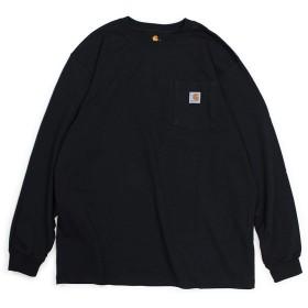 カーハート WORKER POCKET LS T-SHIRTS Tシャツ 長袖 ロンT K126 メンズ ブラック L (並行輸入品) [並行輸入品]