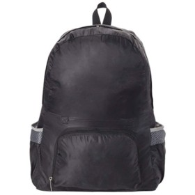 バックパック 折りたたみ リュック 軽量 防水 アウトドア 旅行 便利グッズ トラベルバッグ 2way (ブラック)