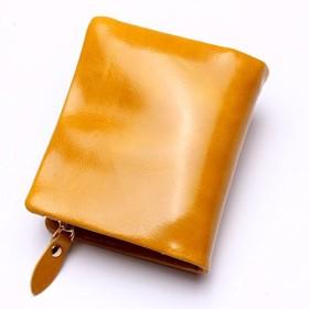 MXLTIANDAO 財布 メンズ レディース ビジネス カード収納 高級 おしゃれ プレゼント (Color : Yellow, Size : S)