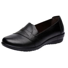 [Liquor] 女性用 作業靴 レディース 安全靴 ファブリック オフィス パンプス ワークレザー ローヒール ポンプシューズノンスリップ 仕事 通勤用