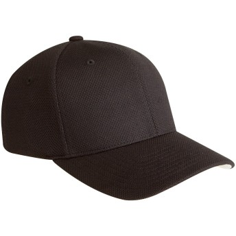 (ユーポン) Yupoong ユニセックス ライトウェイト 軽量・速乾 スポーツキャップ 帽子 ハット スポーツウェア 男女兼用 (S/M) (ブラック)