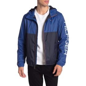 トミーヒルフィガー(Tommy Hilfiger) ナイロン ジャケット メンズ ウインドブレーカー アウター ジップ トミー tmb-158an416 (L, BLUE)
