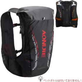TRIWONDER ハイドレーションバッグ 18L 軽量 トレラン ザック トレイルランニング マラソン リュック ベスト バック ハイドレーションパック (ブラック&レッド, L/XL - 92-112cm)