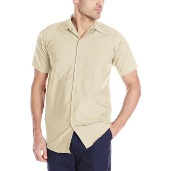 RED KAP SHORT SLEEVE WORK SHIRTS(レッドキャップ半袖ワークシャツ) (Lサイズ, LT(ライトタン))