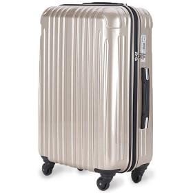 strike(ストライク)超軽量 2年保証 スーツケース カラー限定 TSAロック搭載 旅行バック トランクケース 旅行カバン (小型アウトレット, シャンパンゴールド)