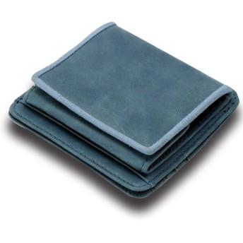[ティーコレクション] (ブランドール) BrandoR 牛革 高機能 コンビニ財布 ボックス コインケース 小銭 お札 カードもOK 専用BOX入り (ブルー)