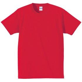 United Athle(ユナイテッドアスレ) 7.1オンス オーセンティック スーパーへヴィーウェイト Tシャツ 425201 オープンエンドヤーン メンズ レディース 無地 (L, レッド)