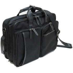 【鞄ヤカスタム 牛革持ち手】(マンハッタンエクスプレス) MANHATTAN EXP. 53-80251 3way ビジネスバッグ B4ファイル収納可能 ブラック