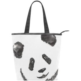 AOMOKI トートバッグ バッグ ハンドバッグ レディース 肩掛け 大容量 通勤 通学 旅行 おしゃれ ギフト プレゼント パンダ Panda 黒白