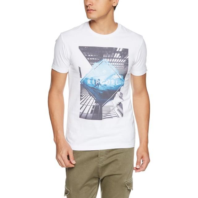 (リップカール)RIPCURL メンズ 半袖 Tシャツ (フォトプリント) [ U01-204 / GOOD DAY BAD DAY SS TEE ] U01-204 WBL WBL_ホワイト・ブルー M