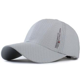 Fintier 男女兼用 シンプル お洒落な 通気性 メッシュ帽 アウトドア スポーツ メッシュキャップ 帽子 メンズ レディース (グレー)