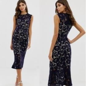 ドレス ワンピース キャップスリーブ レース  Lipsy  レディース フレア ファッション 可愛い エイソス ASOS