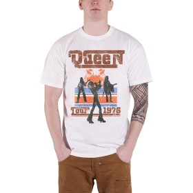 Queen T Shirt Tour 1976 Silhouettes Band Logo Vintage 新しい 公式 メンズ Size L