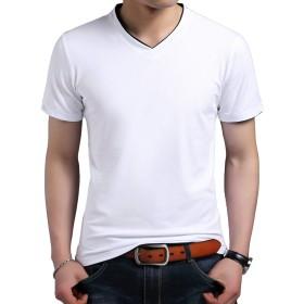 Yingqible メンズ Tシャツ カットソー 半袖 シャツ Vネック トップス スリム シンプル 吸汗速乾 7色展開