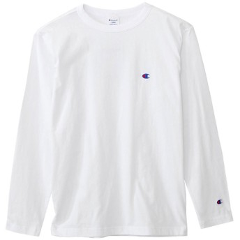(チャンピオン) Champion Tシャツ ワンポイント ロングスリーブTシャツ ベーシック アメカジ C3-J424 White ホワイト XL