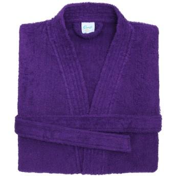 (コンフィー・コー) Comfy Co ユニセックス バスローブ バスガウン バスタオル 男女兼用 (S/M) (紫)