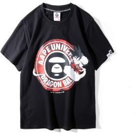 (エーエイプ バイ ア ベイシング エイプ) A BATHING APE 半袖 シャツ T-shirt かっこいい サメ柄 メンズ レディース スポーツ 個性的 … (ブラック, XXL)